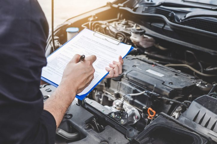 Checklist for car repair
